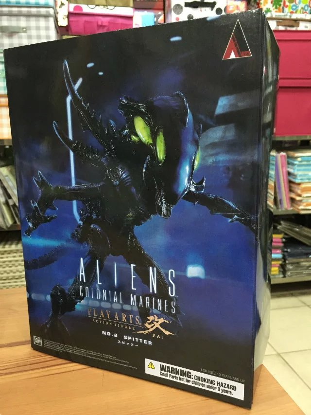 Playarts KAI Aliens Colonial Marines Variant Aliens VS. Spitter PVC Action Figure Collectible Model Toy 27cm KT2188 original aliens colonial marines quintero