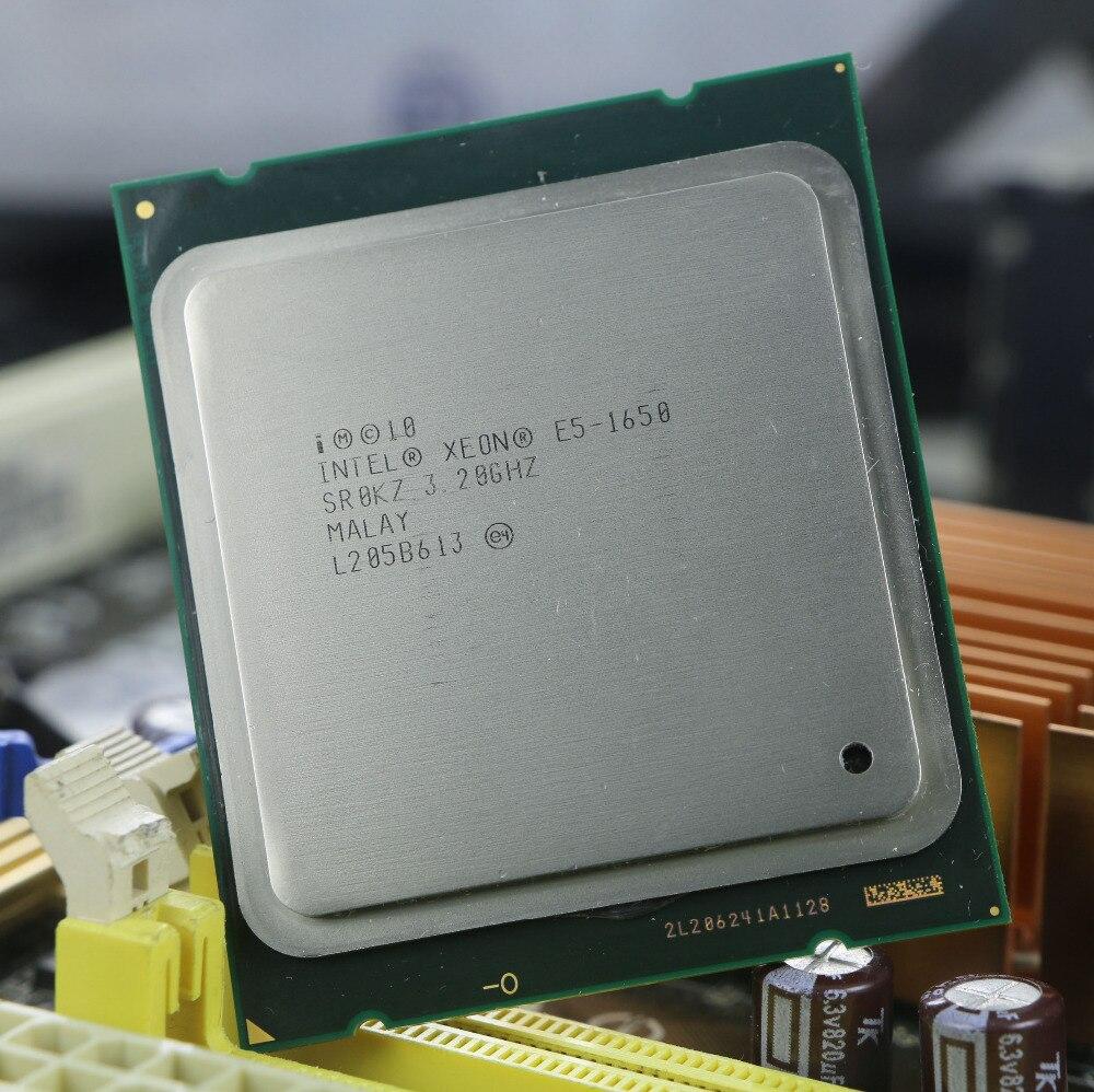 D'origine Intel Xeon E5 1650 3.2 GHz 6 Core 12 Mo de Cache Prise 2011 processeur d'unité centrale SR0KZ e5-1650