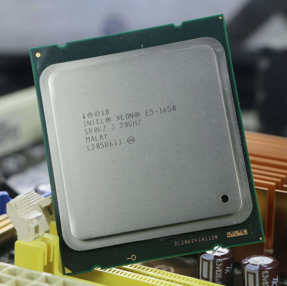 D'origine Intel Xeon E5 1650 3.2 ghz 6 Core 12 mb Cache Prise 2011 Processeur SR0KZ e5-1650