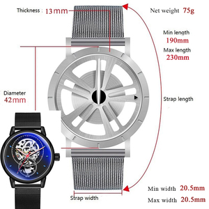 Image 5 - 男腕時計自動機械式時計の男性高級ブランドファッション中空カジュアルシルバーステンレス鋼 Whatch 時計