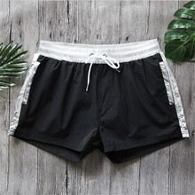 New Quick Dry Men's Swim Shorts Mesh Line Surfing Beach Short Maillot De Bain Sport Bermuda Surf Swimwear Men's Board Shorts(China)