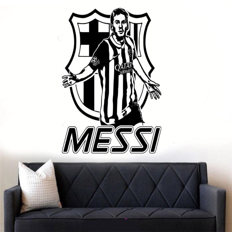 Messi Barcelona La Liga Wall Sticker Art Room Vinyl Football Star Idol Decal DIY Decor ...