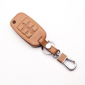 Image 3 - New design leather key case keyboard cover For Kia Rio QL Sportage Ceed Cerato Sorento K2 K3 K4 K5 Fin Key Chain car key case
