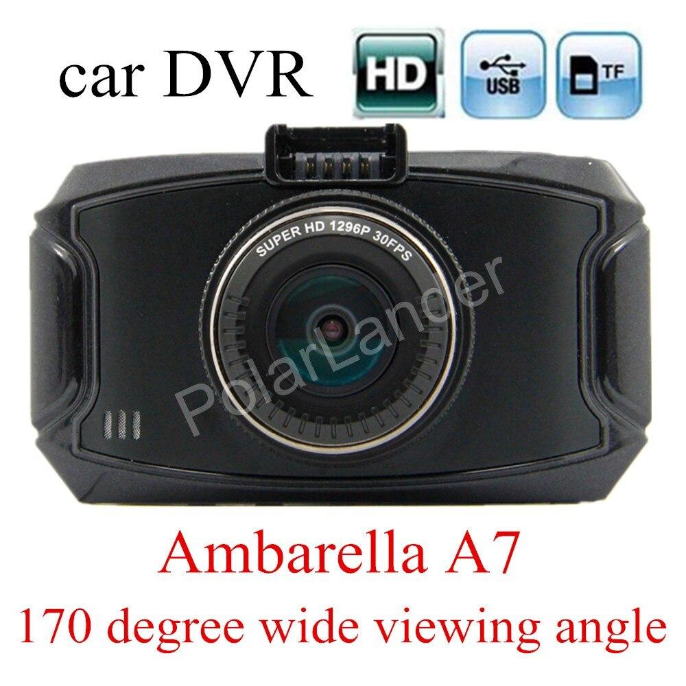 Nouveauté 2.7 pouces Ambarella A7 voiture caméra DVR enregistreur G90 HD 170 degrés grand Angle de Vision g-sensor Vision nocturne