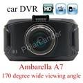 new arrival 2.7 inch Ambarella A7 Car Camera DVR Recorder G90 HD 170 degree Wide viewing Angle G-sensor Night Vision