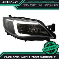 Автомобиль голове стиль лампы для Subaru WRX STI 2009 2012 Фары для автомобиля светодиодные фары DRL Биксеноновая объектив HID двойной