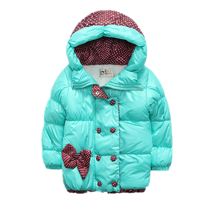 2017 New Children Coat Minnie Baby Girls winter Coats long sleeve coat girl's warm Baby jacket Winter Outerwear cartoon fleece