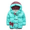 2017 Nuevos Niños de la Capa de Minnie de los Bebés de invierno Abrigos chaqueta de Invierno Ropa de Abrigo de manga larga capa de la muchacha caliente Del Bebé de dibujos animados paño grueso y suave