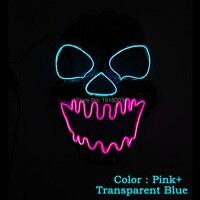 2019 New type EL Wire Mask Skull LED Mask LED Strip Neon Glowing light dance DJ Carnival Mask Halloween Festival decoration