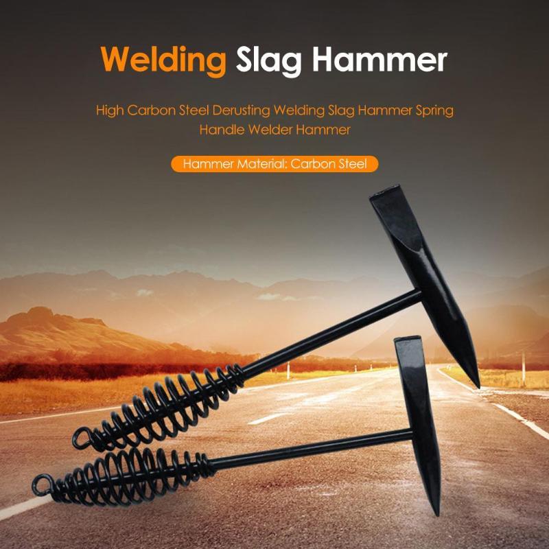 26.5cm High Hardness Carbon Steel Manual Spring Welding Slag Hammer Derusting Welder Hammer Handle Rust Remover