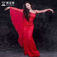 Wing Dance Belly Dance 2017 New Lace Leotard Floating Sleeve Dress Costume Teacher A Spring 2678