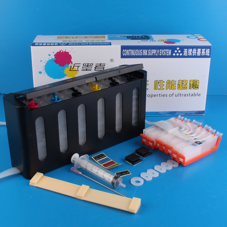 Universal 6Color Continuous Ink Supply System CISS kit with full accessaries bulk ink tank for CANON MG7770 printer CISS ciss continuous ink supply system with decoder for epson gs6000 bulk ink system