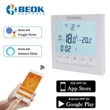 Programlanabilir oda ısıtma kazanı WIFI termostat dijital sıcaklık kontrolleri regülatörü Wifi kontrol termostatı gaz kazanları için