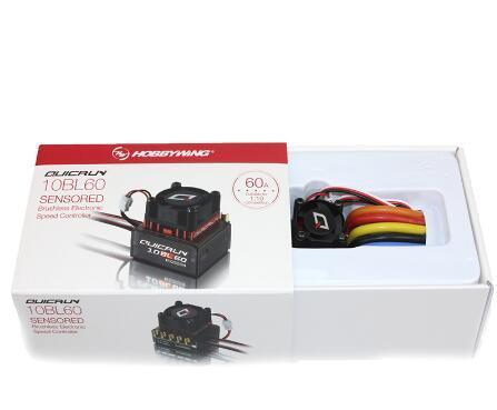 Original Hobbwing QUICRUN 10BL120 Sensored 120A/10BL60 Sensored ESC sin escobillas controlador de velocidad para 1/10, 1/12 RC Mini Coche