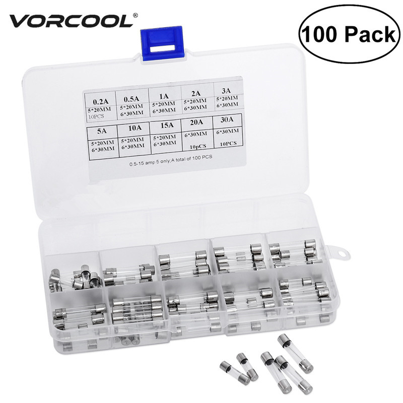 6 pack of 3 amp Glass Fuses