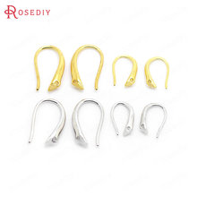 12PCS 9x15MM 7x11MM 24K Gold Color Plated Brass Earrings Hooks High Quality Diy Jewelry Accessories