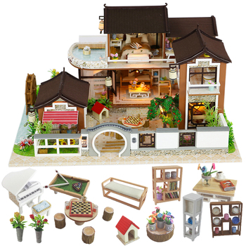 Cutebee Doll House Furniture Miniature Dollhouse DIY Miniature House Room Box Theatre Toys for Children stickers DIY Dollhouse L cutebee doll house furniture miniature dollhouse diy miniature house room box theatre toys for children casa diy dollhouse p