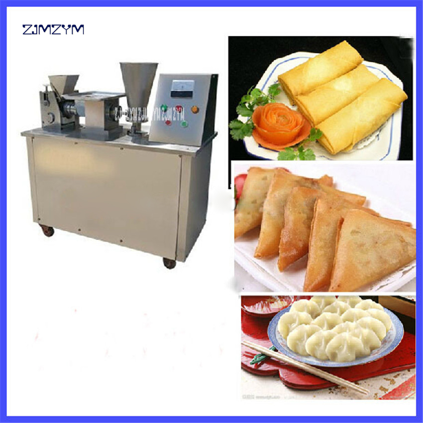 LY-80 Automatic Spring Roll Making Machine Dumplings Chinese Snacks Machine,220V/50hz Stainless Steel Material 4800/H Production 1