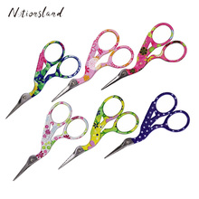 Candy Color Stork Scissors Stainless Steel Cross Stitch for Fabric Needlework DIY Craft Sewing Shears Tool