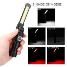 USB Rechargeable COB Work Light Portable Outdoor Flashlight Magnetic LED Lantern With Hanging Hook Flashlights & Torches