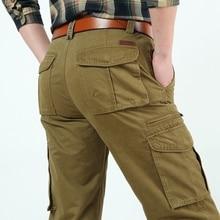 Cargo Pants Winter jogger Lässig Armee-grün Khaki Hosen Männer Marke Kleidung Größe 42 44 Hosen