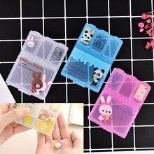 1PCS Cartoon Animal Plastic Pill Box Mini Cute Medicine Case For Healthy Care Empty Drugs for Child Adult Random