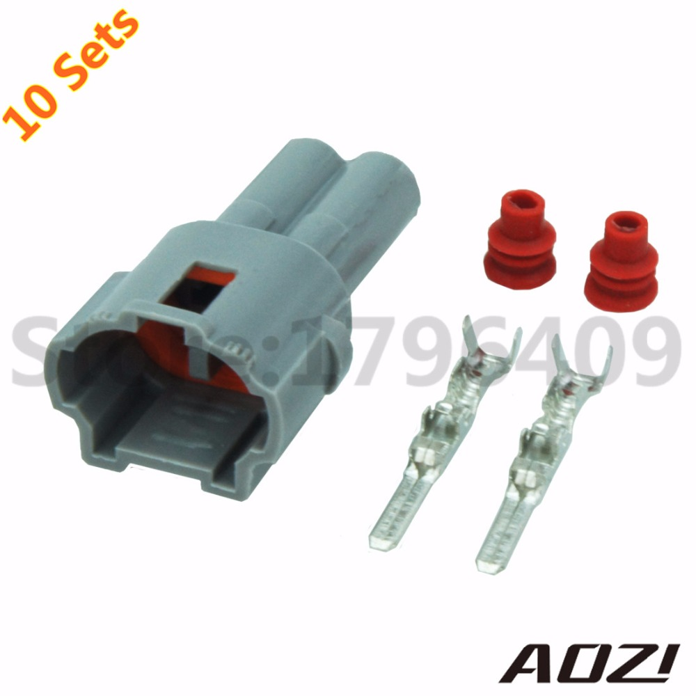 10 Sets Kit Auto Waterproof Wire Harness Connector 2 Pins Male 2mm Ends Series Sealed Connectors 6187 2311 In From Lights Lighting On