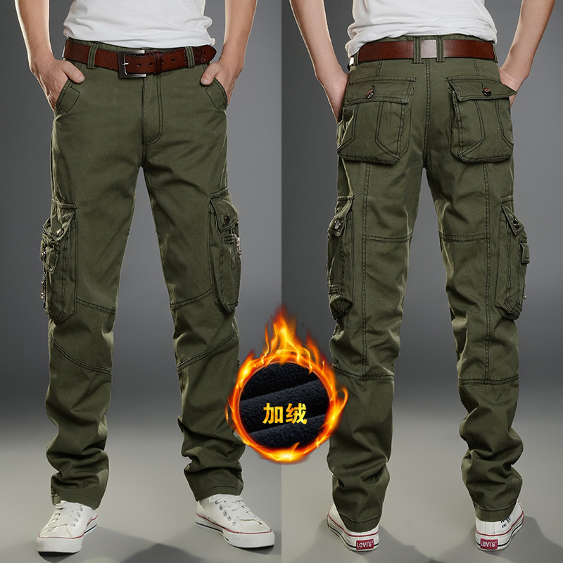 Men Winter Thick Fleece Thermal Multi-pocket Overalls Pants Outdoor Sports Training Hiking Climbing Warm Breathable Trousers цена 2017