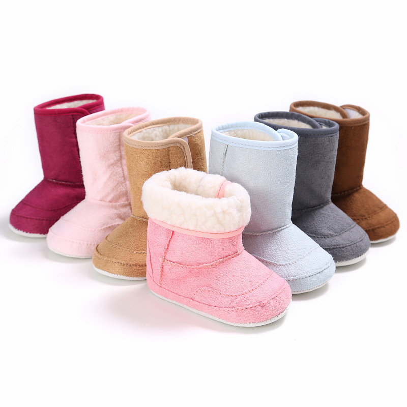 Winter Baby Shoes Warm Baby Boys Girls Shoes Soft Plush Booties Infant Anti Slip Snow Bo ...