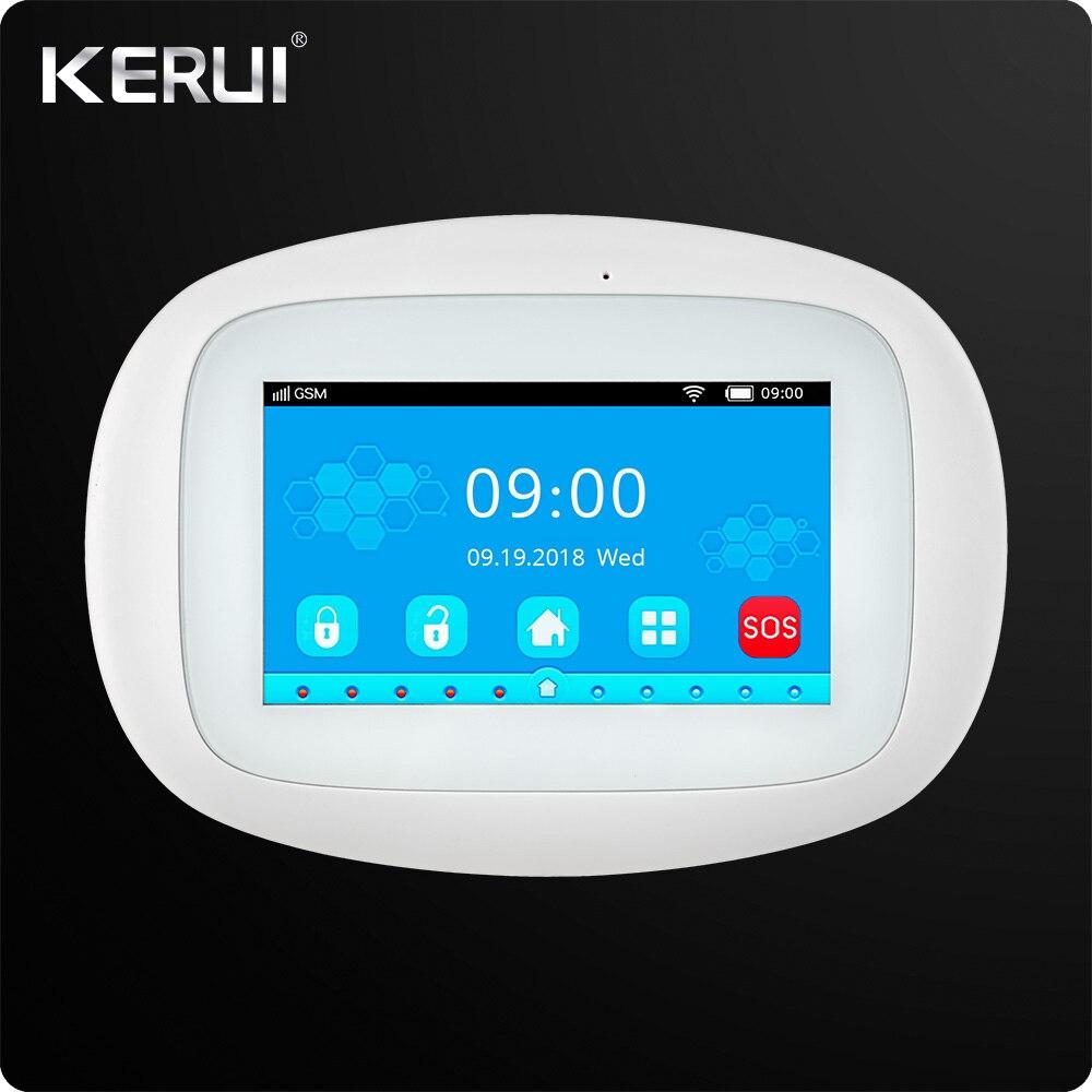 KERUI K52 4.3 pouce TFT Couleur Écran Sans Fil D'alarme de Sécurité WIFI GSM Système D'alarme APP Contrôle Filaire Sirène Orignal Paquet
