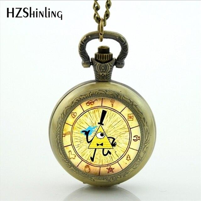 257f1f5dcd4 Retro Vintage Bronze Relógio de Bolso Bill Cifra de Gravity Falls Analógico  Presente Das Mulheres Dos