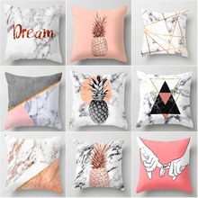 2019 Pink Geometric Nordic Cushion Cover Tropic Pineapple Throw Pillow Polyester Case Sofa Bed Decorative Pillo