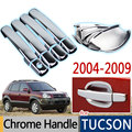 Hot Sale For Hyundai Tucson Accessories 2004 - 2009 Chrome Door Handle 2005 2006 2007 2008 Car Covers Car Stickers Car Styling