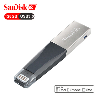 SanDisk USB Flash Drive iXPand OTG Lightning Connector U Disk USB3.0 Stick 128GB Pen Drives MFi for iPhone & iPad  USB-флеш-накопитель