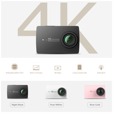 YI 4K Action Camera International Version Ambarella A9SE Cortex-A9 ARM 12MP CMOS 2.19″ 155 Degree EIS LDC WIFI