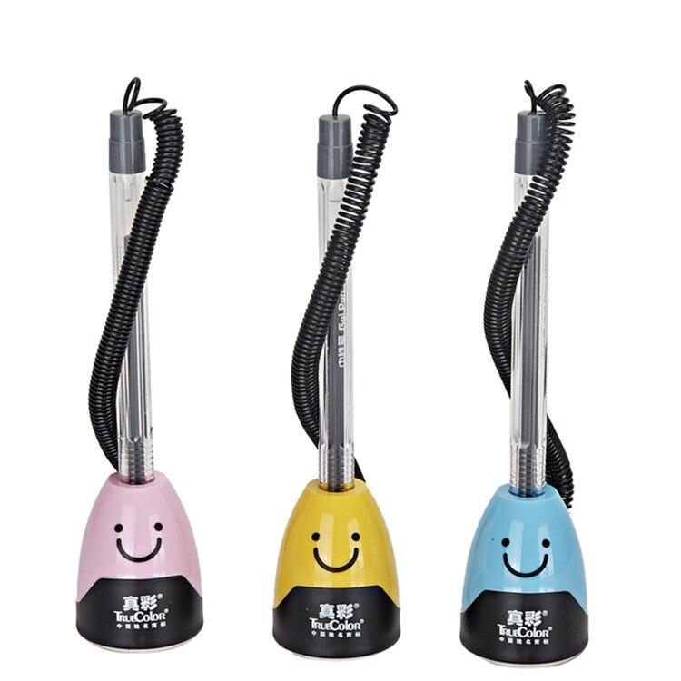 12 PCS/lot truecolor 110037 developed neutral pen Office smile developed Bank securities pen black 0.5 mm plastic desk pen