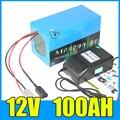 12V 100AH комплект литий-ионных батарей 12 6 V литиевая батарея для хранения солнечной энергии с 500W BMS  5А зарядное устройство
