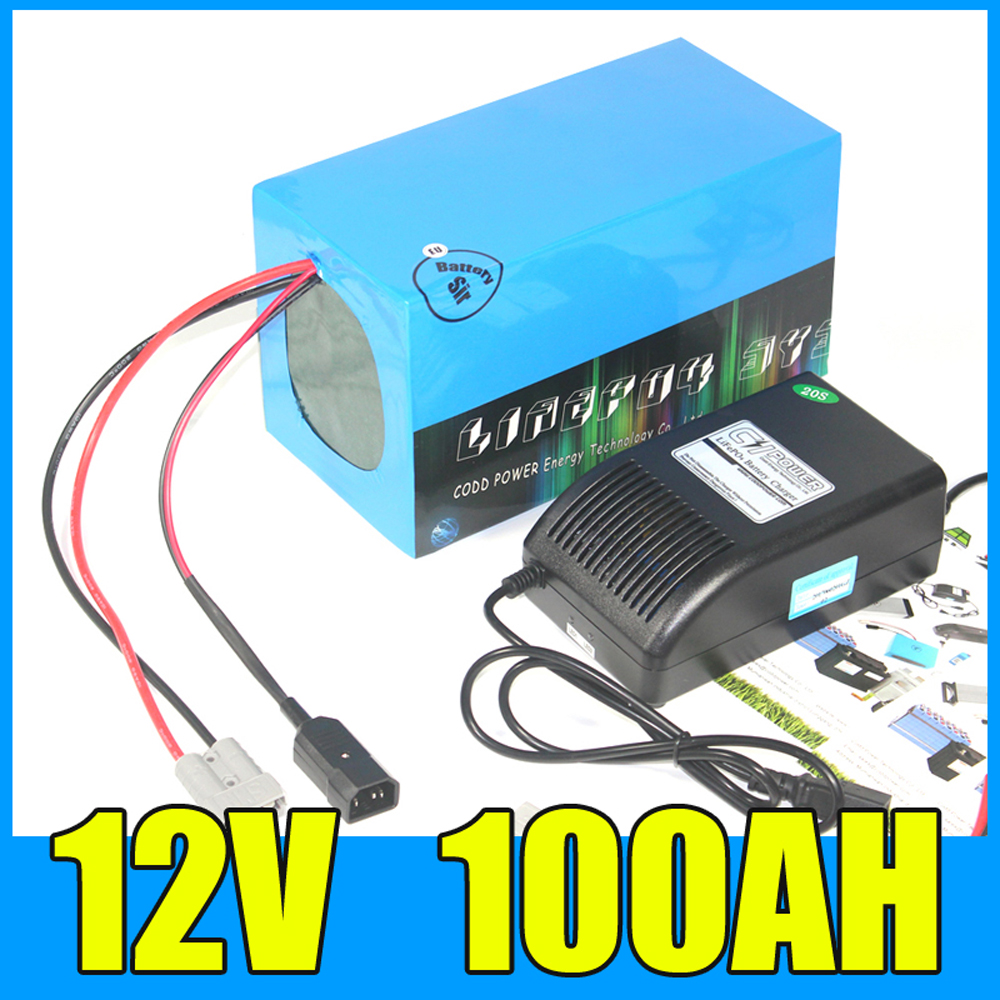 12V 100AH Lithium ion Battery Pack 12 6V Solar energy storage lithium battery with 500W BMS