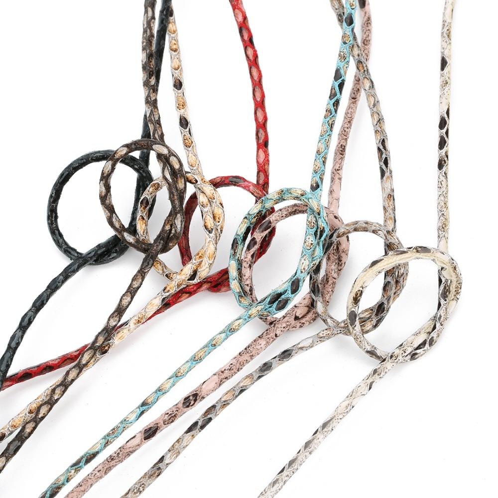 Плетеная нить из ПУ кожи шириной 3 мм для мужчин и женщин кожаный