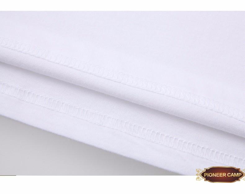 Пионерский лагерь 2017 мужчины шорты майка мужчин модный бренд дизайн довольно хлопок молодые белые тонкие прямые футболки о-образным вырезом 405038