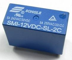 SMI-12VDC-SL-2C 5A relay 2 Group 8 foot imported original brand new