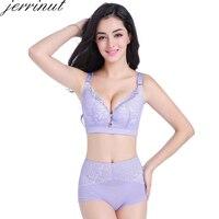 8382452a5e9e Jerrinut Sexy Plus Size Bra Panties Set Super Push Up Bras For Women Lace  Underwear Wire