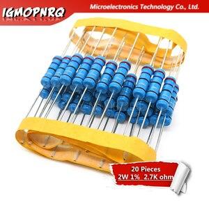 20pcs 2W resistor de filme de Metal resistência 1% 2 W-2.7 K de 2.7Kohm