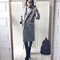 Mulheres casaco de inverno pequeno bonito bordado longo de lã das mulheres do revestimento do revestimento das senhoras casacos jaqueta