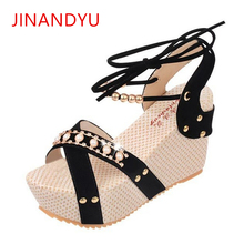 Women Sandal Wedges Shoes Platforms Peep Toe 2019 Summer Sexy Ladies Dress Shoes Women Heels Sandals Female High Wedge Sandals цены онлайн