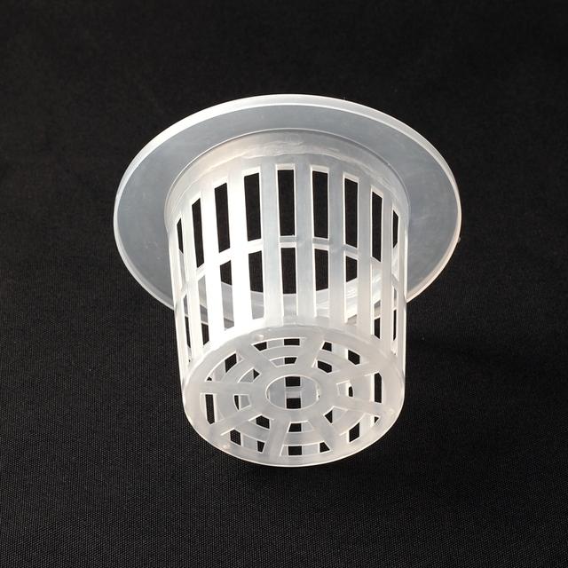 8pcs 100*68.5*70mm Hydroponics Pot Plant Cup Aeroponics Basket Soilless Culture Mesh Pot Green Thumb Rasing Cup