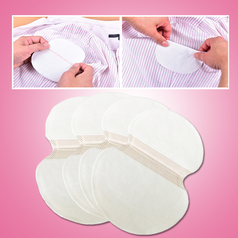 Putimi 68pc Disposable Armpits Pads Absorb Sweat Axillary Absorbent Pads Perspiration Anti Sweat Pads Armpits Covers Deodorant