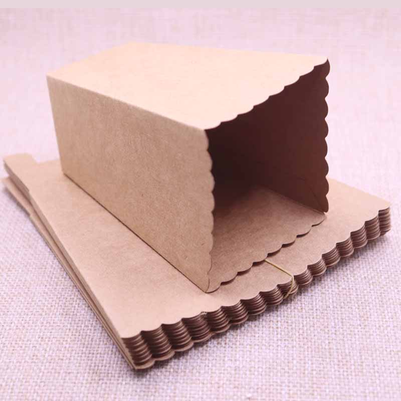 12Pcs/lot 2019 New Arrival  Kraft Treat Popcorn Box For Wedding Party Supply Decoration Christmas Birthday Party Candy Gift Box