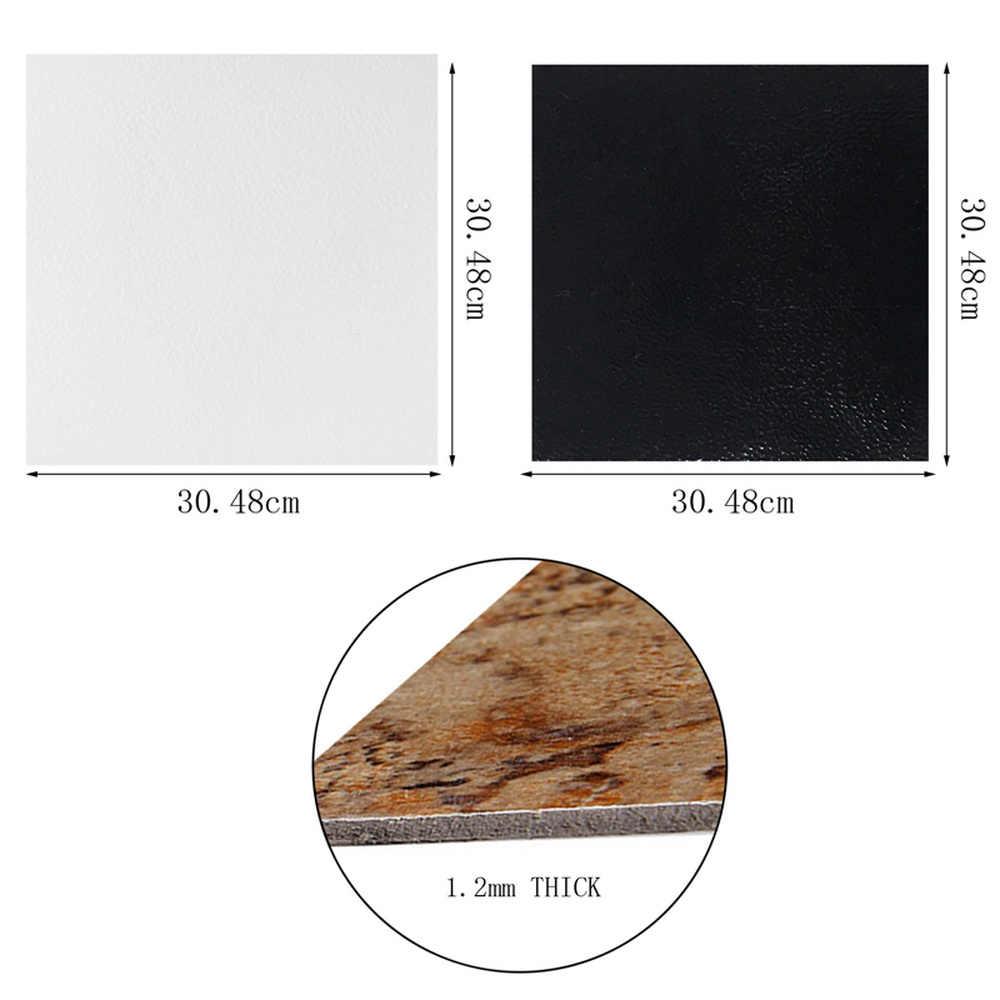 5Pcs Black/White Brick Grain Wall Sticker Tiles Self-adhesive DIY Waterproof Kitchen Bedroom Floor Stickers Home Decor