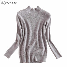 Women Sweater 2017 New Slim High Collar Knitting Sweater Fashion Long Sleeve Blouse POLO Shirt Free Shipping,Dec 15
